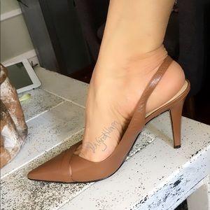 Ralph Lauren sling back heel shoes